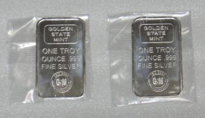 銀地金1オンス。購入時1枚2990円
